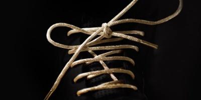 Lacci scarpe donna oro